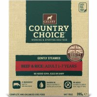 Gelert Country Choice Beef & Rice Tray  395g x 10