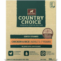 Gelert Country Choice Chicken & Rice Tray 395g x 10