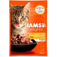 IAMS Delights Chicken & Turkey in Gravy Adult Cat Food