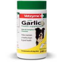 Vetzyme Tablets With Garlic Dog Supplement