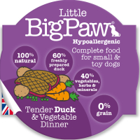 Little Big Paw Tender Duck & Veg Dinner Dog Food 85g x 8