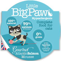 Little Big Paw Gourmet Tender Salmon Mousse Cat Food 85g x 8