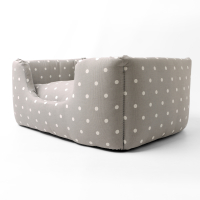 Charley Chau Deeply Dishy Dog Bed Dotty Dove Grey