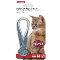 Beaphar Velvet Flea Cat Collar Blue