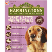 Harringtons Turkey & Potato Wet Dog Food 400g x 8