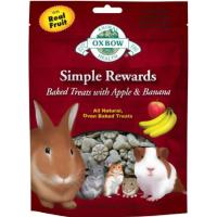 Oxbow Simple Rewards Baked Apple & Banana Treats 60g Apple & Banana