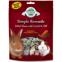 Oxbow Simple Rewards Baked Small Pet Treats 60g Carrot & Dill