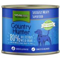 Natures Menu Country Hunter Wild Boar Adult Dog Food Cans 600g x 6