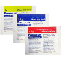 Panacur Wormer Granules for Dogs & Cats 1.8g Blue Sachet NFA-DC