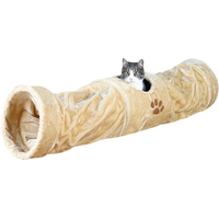 Trixie Large Plush Cat Playing Tunnel Beige