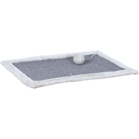Trixie Scratching Mat with Plush Border Light Grey