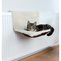 Trixie Plush Radiator Cat Bed  Brown/Cream
