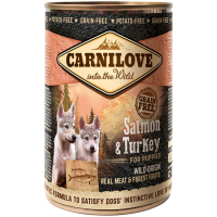 Carnilove Salmon & Turkey Puppy Wet Food 400g x 6
