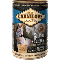 Carnilove Salmon & Turkey Adult Dog Food 400g x 6