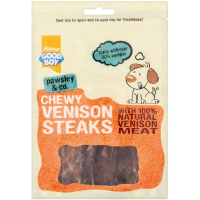 Good Boy Pawsley & Co Chewy Venison Steaks Dog Treats 80g
