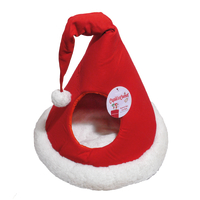 Rosewood Santa's Hat Christmas Cat Bed