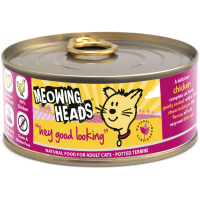 Meowing Heads Hey Good Looking Wet Cat Food 100g x 24 Tins