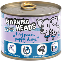 Barking Heads Tiny Paws Puppy Days Salmon Wet Puppy Food 200g x 6