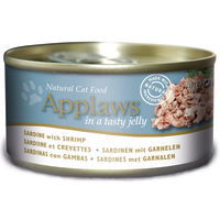 Applaws Sardine & Shrimp In Jelly Tin Adult Cat Food 70g x 24