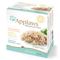 Applaws Mixed Jelly Pouches Adult Cat Food 70g x 12
