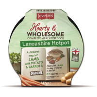 Lovejoys Hearty & Wholesome Lancashire Hotpot Dog Food 142g x 7