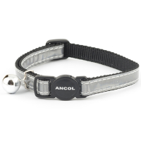 Ancol Gloss Reflective Cat Collar Silver Silver
