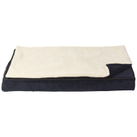 House of Paws Memory Foam Mat with Topper Navy