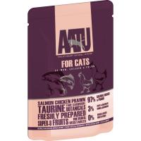 AATU For Cats Salmon, Chicken & Prawn Wet Pouches 85g x 16