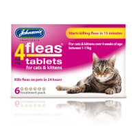 Johnsons 4 Fleas Cats & Kittens Tablets 6 Treatment Pack