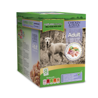 Natures Menu Chicken & Duck Adult Dog Food Pouches 300g x 8