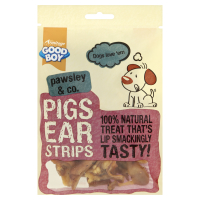 Good Boy Pawsley & Co Natural Pigs Ear Strips Dog Treats 500g