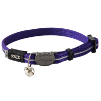 Rogz Alley Cat Purple Cat Collar  Purple