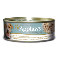 Applaws Chicken & Tuna in Jelly Wet Can Adult Dog Food 156g x 24