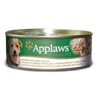 Applaws Chicken & Lamb in Jelly Adult Wet Dog Food 156g x 12