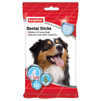 Beaphar Dental Sticks Medium & Large Dog Treats 7 Sticks - Medium/Large Dog