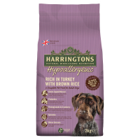 Harringtons Hypoallergenic Turkey & Brown Rice Adult Dog Food 2kg