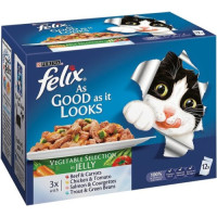 Felix As Good As It Looks Vegetable Selection Cat Food
