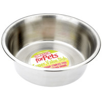 Stainless Steel Metal Dog Bowl 2.8 litre (250mm Diameter)