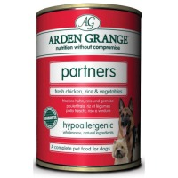Arden Grange Partners Chicken & Rice Dog Food 395g x 6