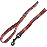 Ancol Nylon Tartan Dog Lead 1.2m x 19mm Red