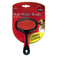 Mikki Dual Slicker Dog Brush For Short/medium/double Coats