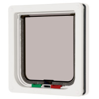 Cat Mate 4 Way Locking Cat Flap White