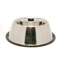 Rosewood Non-Slip Stainless Steel Spaniel Dog Bowl