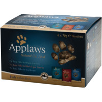 Applaws Multipack Pouches Adult Cat Food 70g x 12 Fish