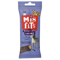 Misfits Wonky Chomps Liver Dog Chews 170g - Regular