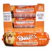 Davies Turkey Chub for Dogs 800g x 15