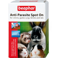 Beaphar Anti-Parasite Spot On for Rabbits, Guinea Pigs, Ferrets & Rats 4 Tubes