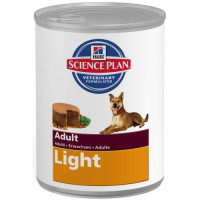 Hills Science Plan Canine Adult Light Chicken Canned 370g x 12