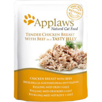 Applaws Chicken with Beef In Jelly Pouch Adult Cat Food 70g x 16