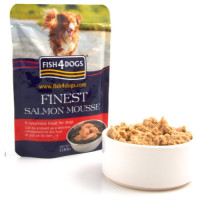 Fish4Dogs Salmon Mousse Adult Dog Food 100g x 6